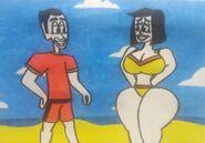 Splendid couple at the beach by JoshuatheFunnyGuy