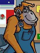 Orangutan in hugo lek och lar 2 den magiska resan