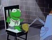 The machine tickles Kermit