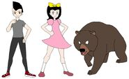 Riley and Elycia meets Himalayan Brown Bear