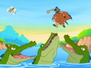 SHO Timon & bear with crocodiles