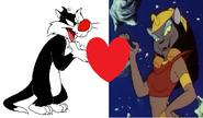 Sylvester Cat x Mirage (Aladdin)