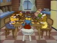 The Muppet Babies eating cereal for breakfast
