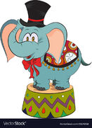 Cartoon-image-of-elephant-wearing-circus-hat-vector-15676158