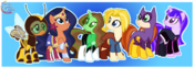 DC Superhero Girls as ponies