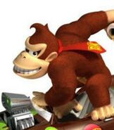 Donkey Kong in Mario Kart Wii