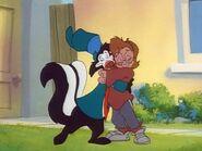 Marilyn hugs Skunky
