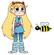 Star meets Western Honey Bee