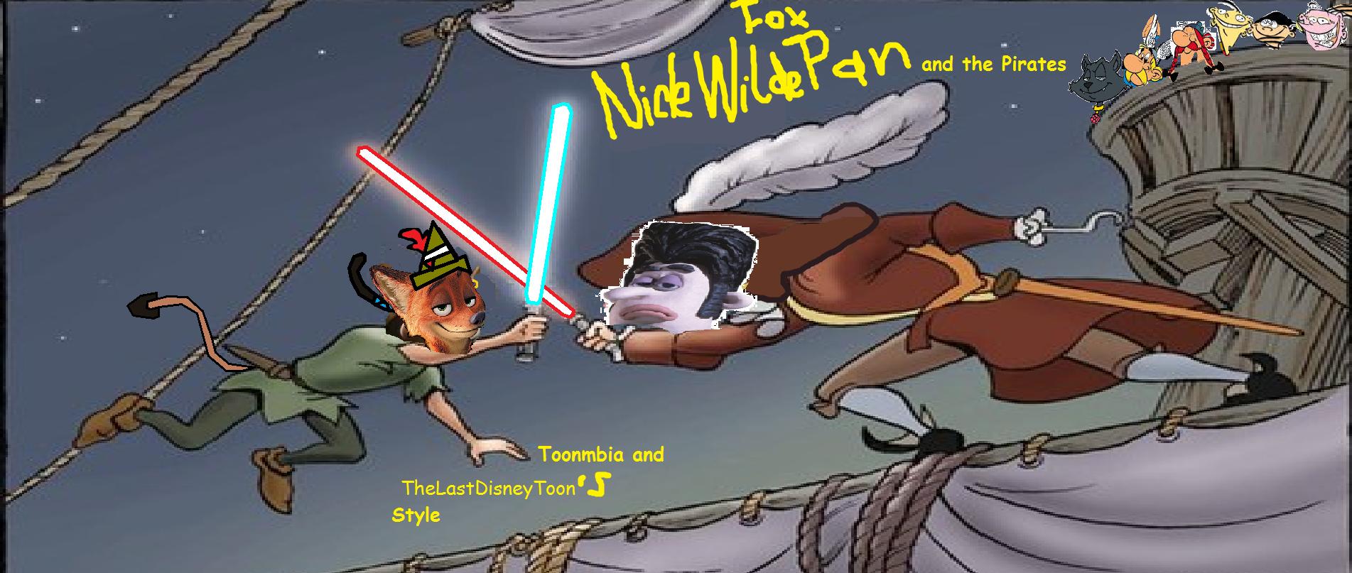 Fox Nick Wilde Pan and the Pirates (TheLastDisneyToon and Toonmbia Style)