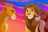 Genderswap Simba, Kiara, and Kovu
