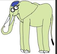 Princess Mindy as elephant