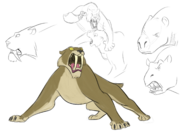 Quick sketch sabor esque smilodon by nazrigar dee4y0g