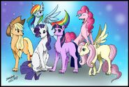 The Mane 6 as Wolves