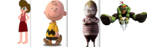 Bambi Junior, Charlie Brown, Pugsley Addams and Raphael