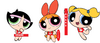 Blossom, Bubbles and Buttercup the Powerpuff Lifeguards on Duty