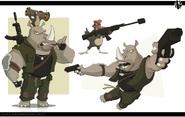 Humanoid Rhinos