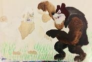 Kiko vs giant short faced bear by masonthetrex-dcfcptv