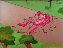 Pink panther trapped in the net 2.jpg