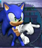 Sonic the Hedgehog in Sonic Rivals 2