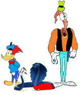 Ajar, Woody Woodpecker And Earthworm Jim As Mickey Mouse, Donald Duck And Goofy