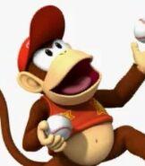 Diddy Kong in Mario Super Sluggers