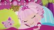 Jewel Sparkles sleeping in Eight Legged Friend