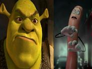 Shrek Hates Frank the Sausage
