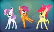 The Cutie Mark Crusaders as Fawns