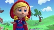 Goldie Locks as Little Red Riding Hood