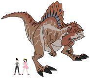 Riley and Elycia meets Spinosaurus