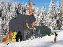 All the animals try to convince the kids to play with Riley, Elycia, Parafly-Lum, Fojo and Faja.jpg