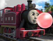 Rosie blowing bubble gum 2