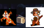 Chip and Dale listen to music.