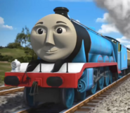 Gordon from thomas and friends as Thor in marvel's avengers