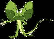 Ken as a Frilled Lizard