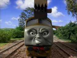 Diesel 10 charging through the countryside.png