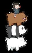 Grizz, Panda, Ice Bear, and Chloe