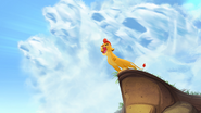 Kion roaring with the clouds