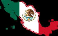 Mexico Flag Map