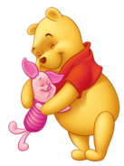 Pooh and Piglet hug