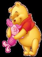 Pooh and Piglet hug