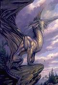 Silver European Dragon