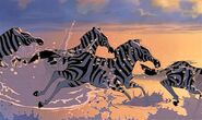 The zebras from the lion king by automotiive