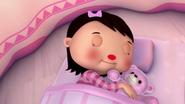 Mia falls asleep in Teddy Bear