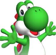 Yoshi in Mario Super Sluggers