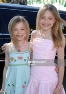 Dakota and Elle as Mary-Kate & Ashely Olsen