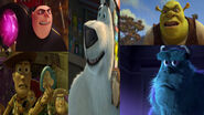Gru, Woody, Shrek and Sulley Hates Norm