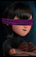 Mavis blindfolded