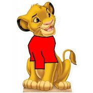Simba (The Lion King 1994 and 2019) as Winnie the Pooh
