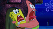 Spongebob and patrick are screaming of terror